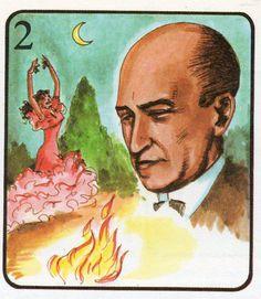 Manuel de Falla fue compositor y pianista mundialmente famoso. Produjo óperas y música para «ballet», como «El amor brujo», «El sombrero de tres picos», etcétera. Su última obra «La Atlántida», no la concluyó debido a su muerte