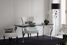 Office area - elegant desk for the bedroom suite - Versace Home