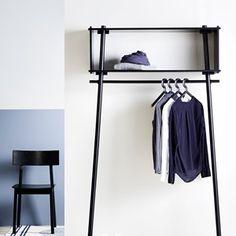 Töjbox Large Kleiderständer / Regal - L 112 x H 200 cm - Woud Furniture For Small Spaces, Home Furniture, Furniture Design, Furniture Dolly, Bedroom Wardrobe, Wardrobe Rack, Small Wardrobe, Garderobe Design, Small Room Design