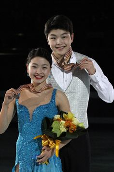 Siblings Alex and Maia Shibutani are representing the US and the Maize and Blue in ice dancing.