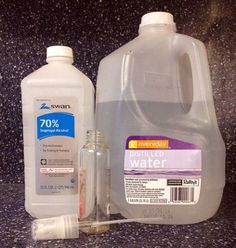 diy screen cleaner for your ipad laptop or tv, cleaning tips, Mix 1 part distilled water and 1 part rubbing alcohol in a spray bottle Spray the liquid on a clean cloth and wipe