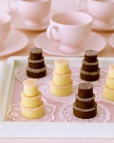 Bridal shower mini cakes jjewell