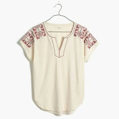 Madewell Embroidered Shirt Excellent condition. Madewell Tops