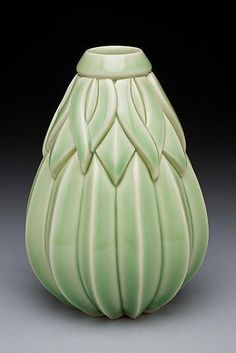 Tall Striped Sins Vase by Lynne Meade: Ceramic Vase available at www.artfulhome.com