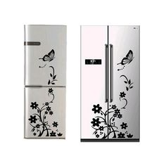 High Quality Wall Sticker Creative Refrigerator Sticker Butterfly Pattern Wall Stickers Home Decor W 3d Mirror Wall Stickers, Floor Stickers, Butterfly Wall Stickers, Window Stickers, Wall Decals, Kitchen Wall Stickers, Wall Stickers Home Decor, Butterfly Pattern, Butterfly Flowers