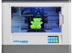 FLASHFORGE DREAMER 3D PRINTER, DUAL EXTRUDER, FULLY ENCLOSED CHAMBER, W/2 FREE SPOOLS.