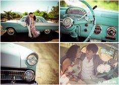 Sarah & James from Texas used my car (a 1955 Ford Fairlane Victoria) in their St. Helena, CA engagement photo shoot.  Photos by Britt Hanson of BLR Life Photography.