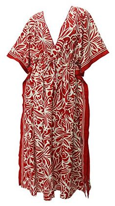 Womens Beachwear Long Casual Caftan Loose Dress Printed Red 1595 US 14 Spring Summer 2017 >>> Visit the image link more details. Green Turquoise, Purple Yellow, Red And Pink, Maternity Swimwear, Maternity Wear, Beachwear For Women, Night Gown, Grey And White, Wrap Dress