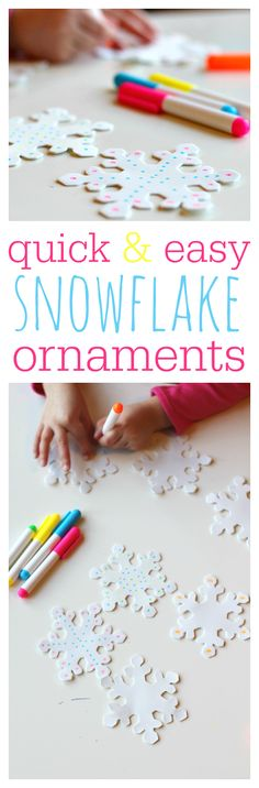 Easy snowflake craft for kids , and it's adorable!