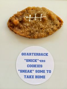 Quarterback Sneak Cookies - made with Snickers perfect Football Party Dessert