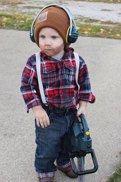 Pax's lumberjack halloween costume