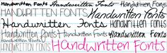 29 Lovely #Handwritten #Fonts for free! (originally from DaFont.com)