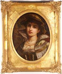 A portrait of a young lady, shoulder-length Beauty Sale, Shoulder Length, Original Artwork, Portrait, Lady, Artist, Men Portrait, Paintings, Portraits