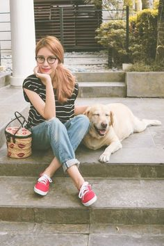 blonde in cuffed jeans and keds - Google Search