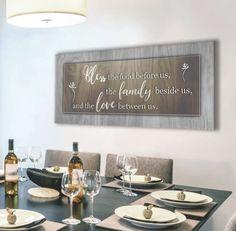 Bless the food before us Wall Art (Wood Frame Ready To Hang) – Sense Of Art Dinning Room Wall Decor, Dining Room Walls, Room Decor, Living Room, Family Wall Art, Home Wall Art, Wall Art Decor, Wall Decorations, Bathroom Wall Art