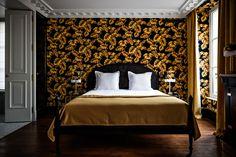 Hôtel Providence à Paris Pierre Moussié Art Déco papier pient coloré décoration http://www.vogue.fr/voyages/hotel/diaporama/htel-providence-paris/23795#htel-providence-paris-7