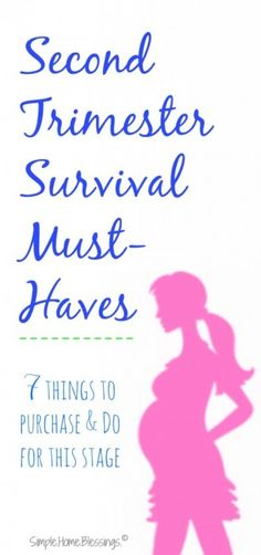 real deal, must have items to survive the second trimester