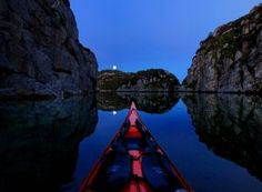 Intrepid Tomasz Furmanek spends his spare time gliding atop the waters in some Norway's most idyllic beauty spots and snapped the images with a GoPro from his kayak through the seasons. Kayak Boats, Kayak Camping, Canoe And Kayak, Kayak Fishing, Kayak Pictures, Travel Pictures, Kayak Adventures, Outdoor Adventures, Lakeside Cottage