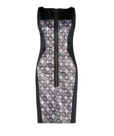 Diamond Print Insert Shift Dress by Cue Buy Dresses Online, Style Ideas, Evening Dresses, Casual Dresses, High Neck Dress, Women's Fashion, Diamond, My Style, Floral