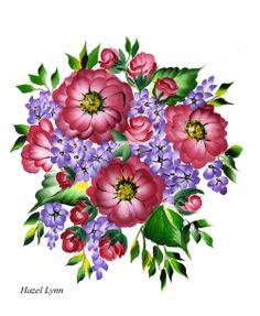 Pink,Lilac Spray. Hazel Lynn.