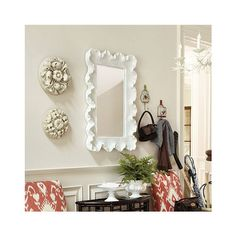 Atoll Rectangular Mirror with Clear Glass   Wall Decor   Ballard... ($299) ❤ liked on Polyvore featuring home, home decor, mirrors, ballard designs, rectangular mirror and rectangle mirror