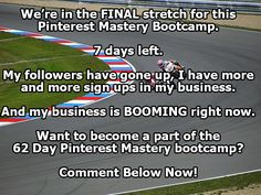 This Bootcamp has been awesome!  Wanna learn my secrets for dominating Pinterest?  Click the pic now!