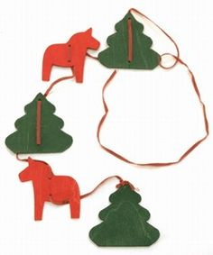 Wooden Swedish Christmas Ornaments