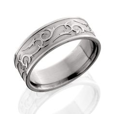 Ben Garelick 8mm Razor Men's Titanium Wedding Ring