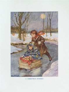 1920/30__ALICE MAY COOK BOOK PLATE__LARGE__A CHRISTMAS JOURNEY | eBay Illustrator, Alice, Miniatures, Journey, Plates, Cooking, Artist, Books, Christmas