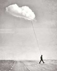 Clouds created by human mindset Surrealism Photography, Conceptual Photography, White Photography, Fine Art Photography, Shooting Photo, Surreal Art, Photo Manipulation, Belle Photo, Dark Art