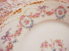 リモージュ・プレート - イギリスとフランスのアンティーク | バラと天使のアンティーク | Eglantyne(エグランティーヌ)