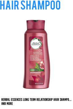 (This is an affiliate pin) Size:23.7-OunceProduct DescriptionHerbal EssenceFrom the Manufacturer Long Term Relationship Ready for long hair care that goes the distance? To get long, satin-soft hair, engage every strand in a long-term relationship with this formula infused with red raspberry and Brazilian silk. You can grow your hair as long as you dare. Help protect against damage and split ends with this shampoo, conditioner, and leave-in split end protector. Explore the