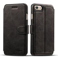 iPhone 7 Plus Case, Pasonomi iPhone 7 Plus Leather Wallet… Iphone 7 Cases Luxury, Iphone Cases, Leather Phone Case, Leather Wallet, Leather Bag, Real Leather, Cow Leather, Iphone 8 Plus, Slot