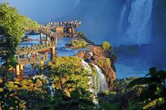 Beautiful Views of Waterfalls from 11 Bridges Around the World Photos | Architectural Digest