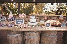 Rustic table design of yummy desserts!