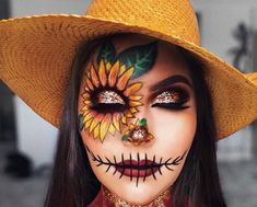 Looking for for inspiration for your Halloween make-up? Browse around this website for cool Halloween makeup looks. : Looking for for inspiration for your Halloween make-up? Browse around this website for cool Halloween makeup looks. Halloween Costumes Scarecrow, Scarecrow Makeup, Cute Halloween Makeup, Halloween Makeup Looks, Haunted Halloween, Halloween Party, Women Halloween, Halloween Ideas, Scarecrow Face Paint