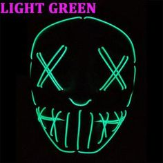 - best accessories of 2019 Neon Lighting, Strip Lighting, Halloween Masks, Halloween Party, Creepy Masks, Neon Glow, Led Light Strips, Strobing, Light Up