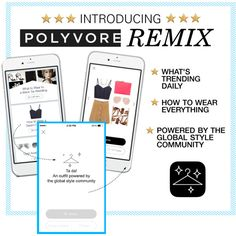 Introducing Polyvore Remix, our daily outfit inspiration app that helps you discover what's trending and gives you inspiration for how to style any item. Request an access code ASAP -- there's a limited number available: http://polyv.re/NewPolyvoreRemix