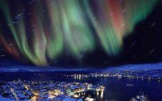 Aurora Borealis Lighting up the Sky in Iceland, Aurora Borealis ...