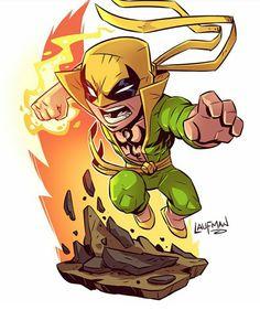 Iron Fist Punho de Ferro Marvel - Os Defensores Chibi by Derek Laufman