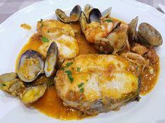 Paella, Fish Recipes, Asian Recipes, Peruvian Recipes, Tostadas, Seafood, Menu, Chicken, Cooking