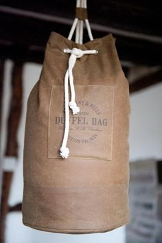 Oilskin Duffel Bag Kit - | Merchant & Mills