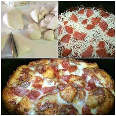 Slow Cooker Pepperoni Pizza Bake - an easy crockpot recipe inspired by one of our favorites 4