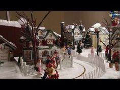 Christmas town scene