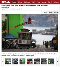 "BTS of Dwayne The Rock Johnson's new San Francisco based film ""San Andreas,"""