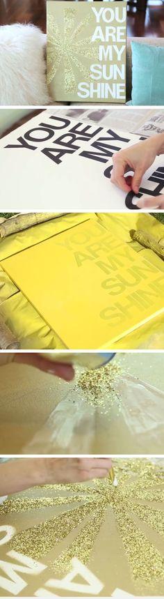 DIY Canvas Wall Art | Click Pic for 33 DIY Christmas Gift Ideas for Friends | DIY Christmas Gift for Women