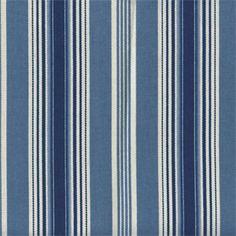 Rodeo Drive Indigo Stripe Drapery Fabric - SW48754 - Discount Fabrics
