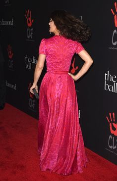 Salma Hayek Photos - Actress Salma Hayek attends Rihanna's First Annual Diamond Ball at The Vineyard on December 11, 2014 in Beverly Hills, California. - Rihanna's 1st Annual Diamond Ball Benefitting The Clara Lionel Foundation (CLF) - Arrivals