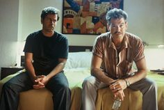 "Greg Kinnear and Pierce Brosnan in ""The Matador"""