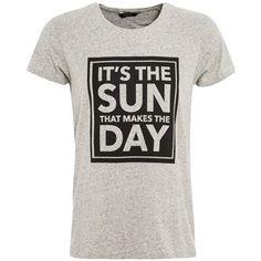 T-Shirt mit Frontprint - Cooles graues T-Shirt von Scotch & Soda. Das T-Shirt ist ein super Basic für den Alltag mit einem schönen Spruch. - ab 22,95€